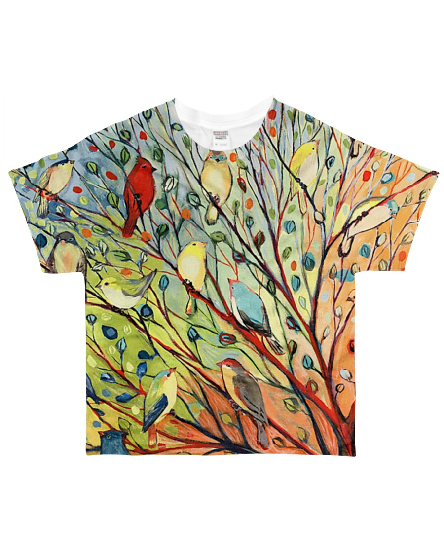 Bird shirt colorful birds on tree All-over T-Shirt