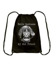 Cat Darth Vader Star Wars Hello Darkness Drawstring Bag thumbnail