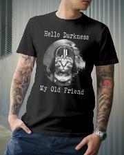 Cat Darth Vader Star Wars Hello Darkness Classic T-Shirt lifestyle-mens-crewneck-front-6