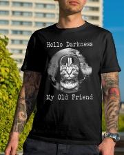 Cat Darth Vader Star Wars Hello Darkness Classic T-Shirt lifestyle-mens-crewneck-front-8
