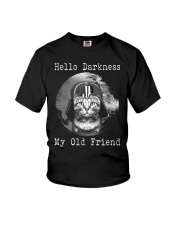 Cat Darth Vader Star Wars Hello Darkness Youth T-Shirt thumbnail