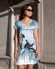 Whale dress ocean lovers All-over Dress aos-dress-front-lifestyle-1