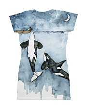 Whale dress ocean lovers All-over Dress back