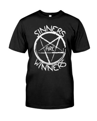 Satan shirt satanic sinners are winners