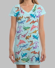Shark dress colorful shark All-over Dress aos-dress-front-lifestyle-3