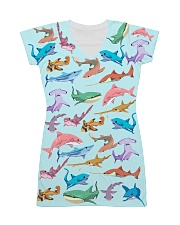 Shark dress colorful shark All-over Dress front