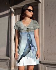 Whale dress watercor whale  All-over Dress aos-dress-front-lifestyle-1