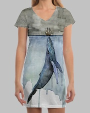 Whale dress watercor whale  All-over Dress aos-dress-front-lifestyle-3