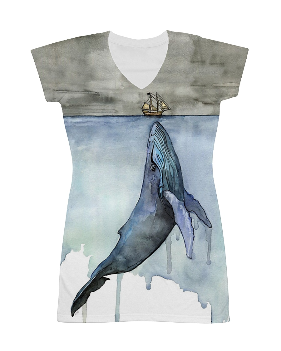 Whale dress watercor whale  All-over Dress
