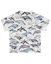 Whale shirt type of whale  All-over T-Shirt back