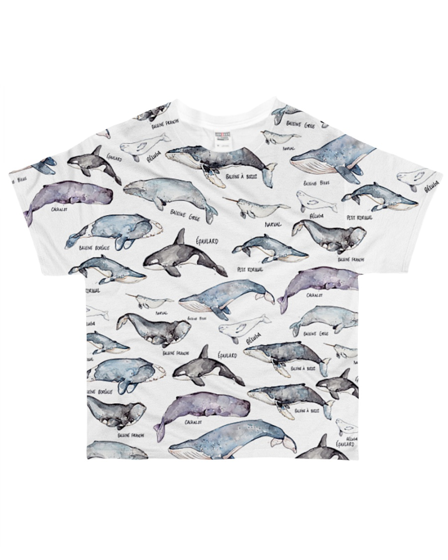 Whale shirt type of whale  All-over T-Shirt