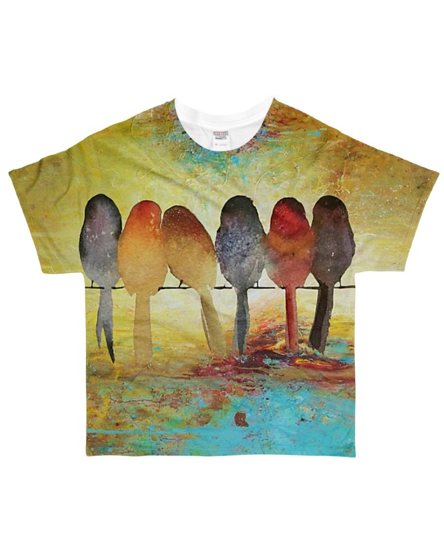 Bird shirt birdwatching colorfull All-over T-Shirt