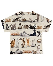 Cats yoga cute namaste All-over T-Shirt back