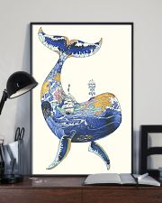 Whale poster art watercolor 11x17 Poster lifestyle-poster-2