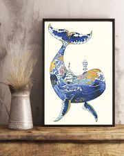 Whale poster art watercolor 11x17 Poster lifestyle-poster-3