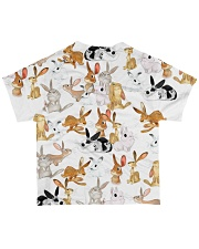 Rabbit shirt cute cartoon bunnies All-over T-Shirt back