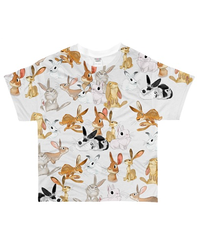 Rabbit shirt cute cartoon bunnies