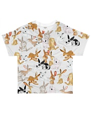Rabbit shirt cute cartoon bunnies All-over T-Shirt front