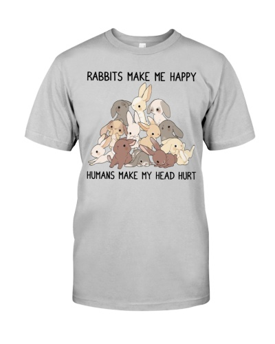Rabbit shirt rabbits make me happy