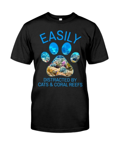 Cat Easily Distracted By Cat And Coral