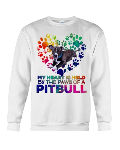 Pitbull my heart is held by the paws