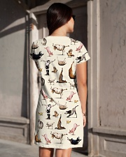 Vegan shirt animal yoga veganism vegetarian shirt All-over Dress aos-dress-back-lifestyle-1