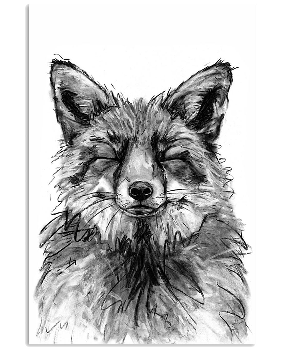 fox comfy bed 11x17 Poster