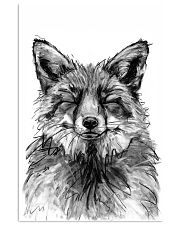 fox comfy bed 11x17 Poster front