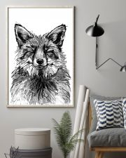 fox comfy bed 11x17 Poster lifestyle-poster-1