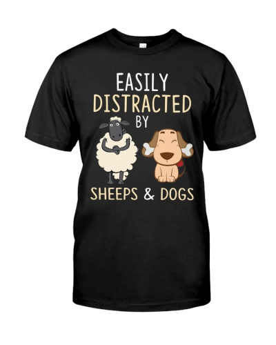 Sheeps And Dogs Funny Cute