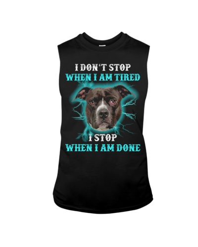 Pitbull i don't stop when i am tired