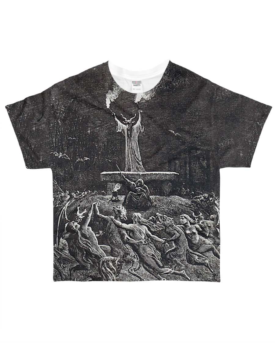 Satan shirt satanic lucifer devil shirt  All-over T-Shirt