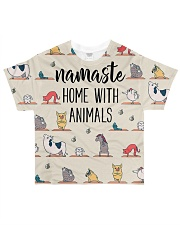 Vegan yoga animal namaste vegetarian All-over T-Shirt front