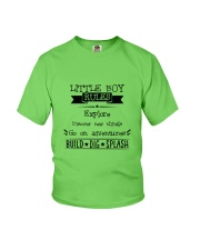 LITTLE BOY RULES Youth T-Shirt front