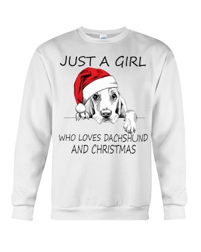 Just A Girl Christmas Dog
