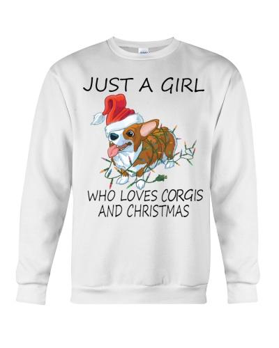 JUST A GIRL WHO LOVES CORGI AND CHRISTMAS