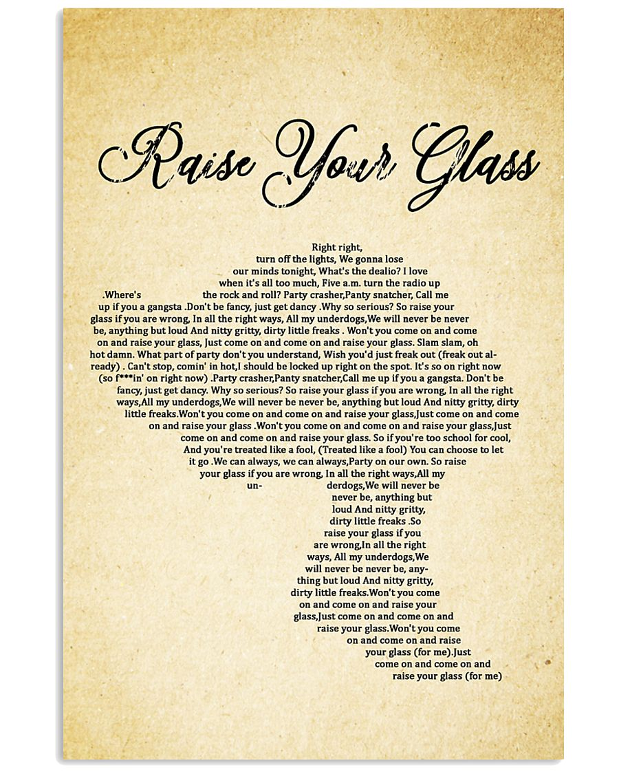 RAISE YOUR GLASS 11x17 Poster