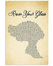 RAISE YOUR GLASS 11x17 Poster front