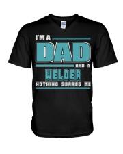 DAD AND WELDER JOB SHIRTS V-Neck T-Shirt thumbnail