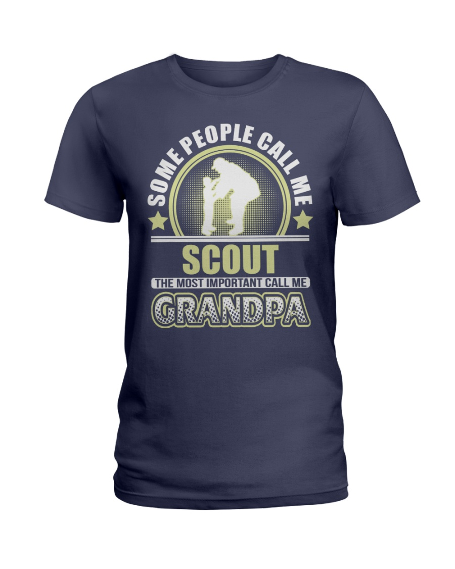 CALL ME SCOUT GRANDPA JOB SHIRTS Ladies T-Shirt