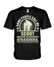 CALL ME SCOUT GRANDPA JOB SHIRTS V-Neck T-Shirt thumbnail