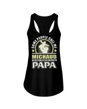 CALL ME MICHAUD PAPA THING SHIRTS Ladies Flowy Tank thumbnail