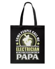 CALL ME ELECTRICIAN PAPA JOB SHIRTS Tote Bag thumbnail