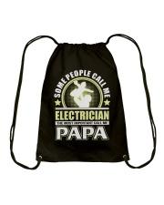 CALL ME ELECTRICIAN PAPA JOB SHIRTS Drawstring Bag thumbnail