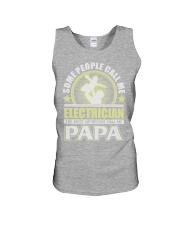CALL ME ELECTRICIAN PAPA JOB SHIRTS Unisex Tank thumbnail