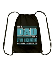 DAD AND STAFF ACCOUNTANT JOB SHIRTS Drawstring Bag thumbnail