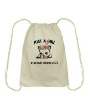 I LOVE FRENCH KISSES Drawstring Bag thumbnail