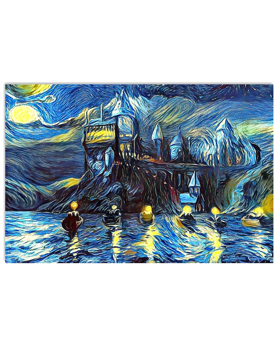 Starry Night Boats 17x11 Poster