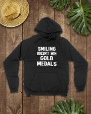 Smiling Doesn't Win Gold Medals Hooded Sweatshirt lifestyle-unisex-hoodie-front-7