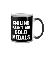 Smiling Doesn't Win Gold Medals Color Changing Mug thumbnail